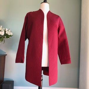 Sigrid Olsen open dark red jacket XL
